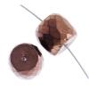 Fire polished 14x12mm Barrel Shape Bead Strung Copper